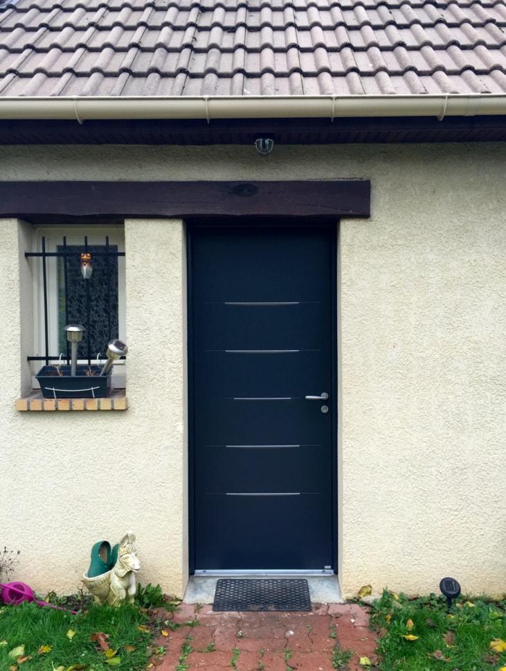 Portes d 39 entr e bel 39 m en aluminium en bois ou mixte - Porte d entree bel m aluminium ...