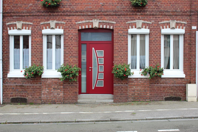 pose d 39 une porte d 39 entr e aluminium sur mesure barentin. Black Bedroom Furniture Sets. Home Design Ideas